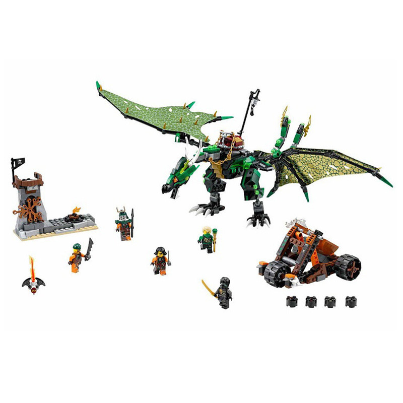 70593 61LEPIN The Green NRG Dragon LEPIN 06036 Model Building Kits Blocks Bricks Toys for Children