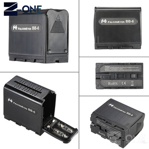 Image 4 - BB 6 6pcs AA Battery Case Pack Battery Holder Power as NP F NP 970 Series Battery for LED Video Light Panel / Monitor