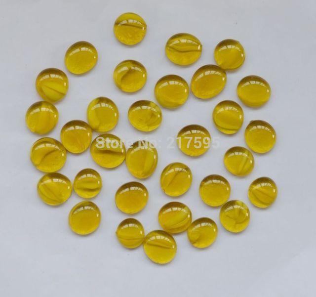 Dekorative Gelbe Flache Perlen Aquarium Stein Vase Filler Aquarium  Dekoration Durchmesser Ca. 1,7