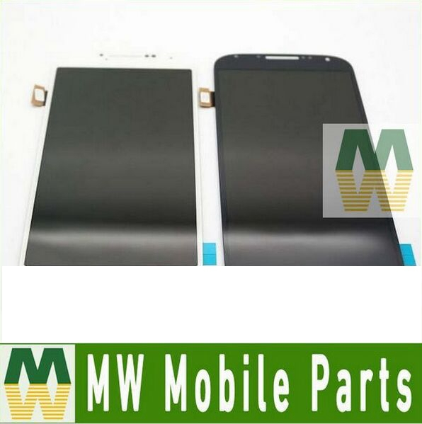 ФОТО 1PC/Lot For Samsung Galaxy S4 I9500 i9505 i337 Blue White Color LCD Display+Touch Screen Digitizer Panel Assembly