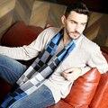 Inverno cachecol quente venda de algodão xadrez famosa marca de luxo xales 2015 moda engrossar pescoço masculino echarpes