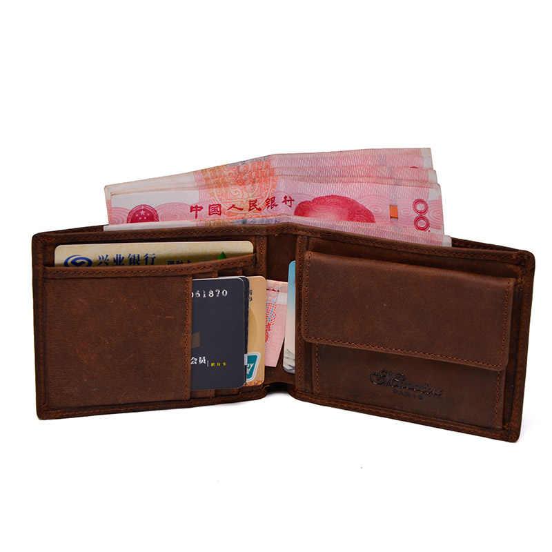 Натуральная кожа бумажник Для мужчин Организатор Женские Кошельки бренд Винтаж Пояса из натуральной кожи теплые короткие Для мужчин бумажник кошелек с монета карман tw1653