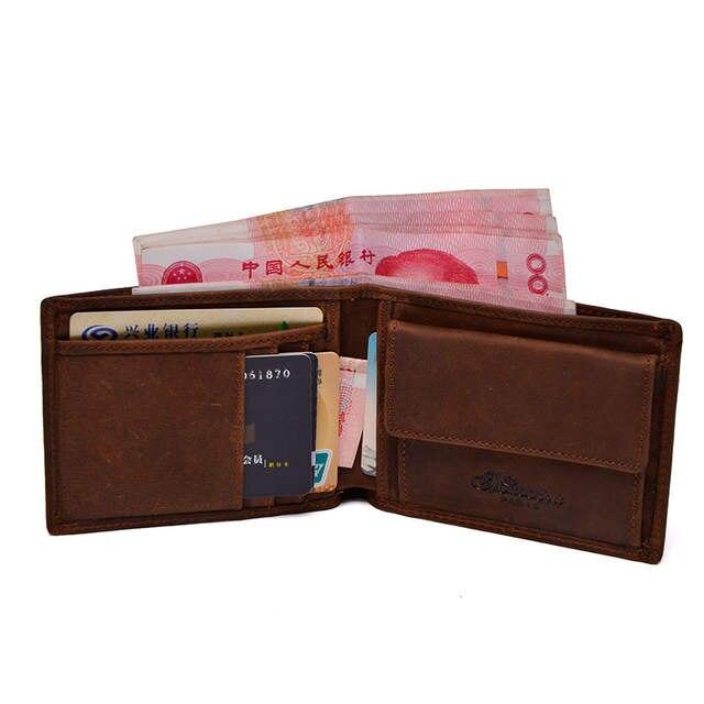 Portemonnee.Online Shop Real Leather Wallet Mannen Organizer Wallets Merk