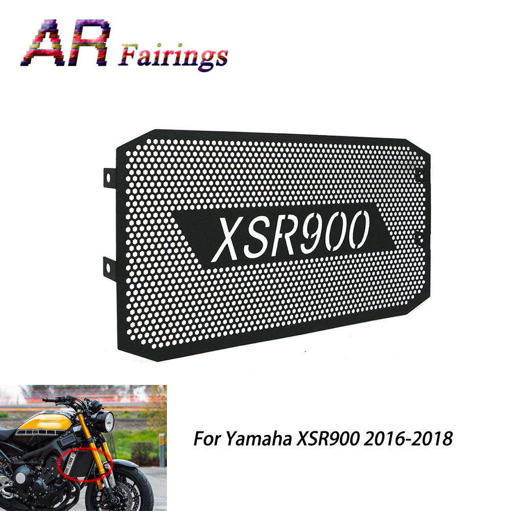 1 PIECE Motorcycle Radiator Guard Protector Grille Cover Black For Yamaha XSR900 XSR 900 2016 2017 2018 16 17 18