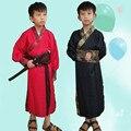 Chino antiguo hanfu traje traje niños traje del funcionamiento de la etapa de la dinastía niño bata de satén chino tradicional dress niños