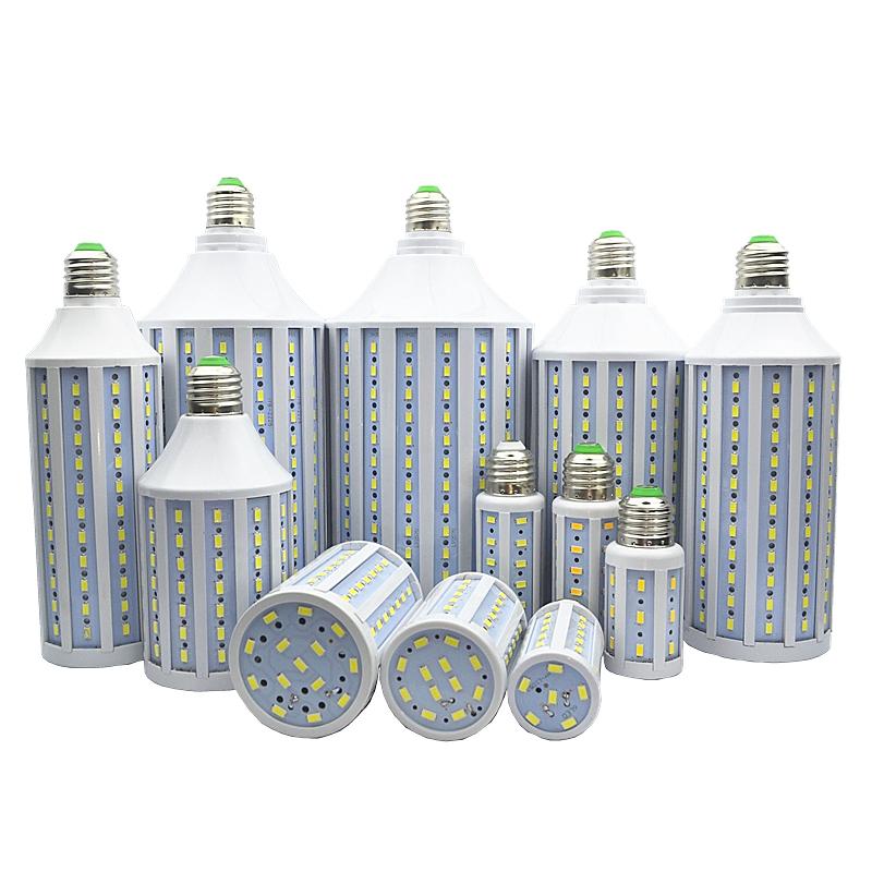 1pcs/lot corn bulb LED Corn light led bulb lamp 5730 30W 40W 50W 60W 80W 100W LED Lamp E27 E40 B22 E14 85-265V/AC 3w e14 home candle bulb led light lamp ac 85 265v 6pcs
