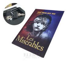Coffre-fort classique caché en vrai livre, serrure à clé en métal, Simulation de Style livre Les Miserables, 222x152x45mm, nouveau