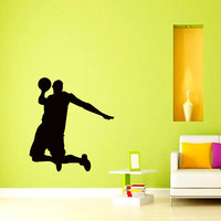 Basketball Game Cool Man Player Silhouette Wall Stickers Home Sport Game Series Modern Style Decor Vinyl Wall Mural Decal WM-156