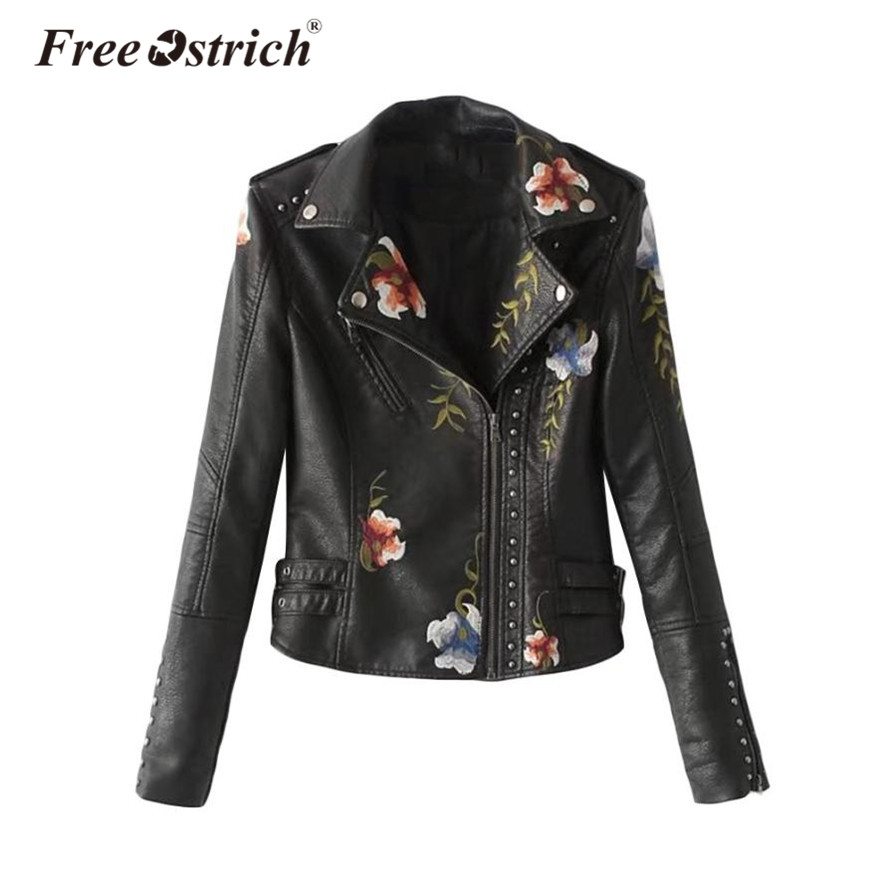 Free Ostrich 2018 Winter Faux Leather   Jacket     Basic     Jackets   Outerwear Coats Women Autumn Winter   Jacket   Female Coat Aug28