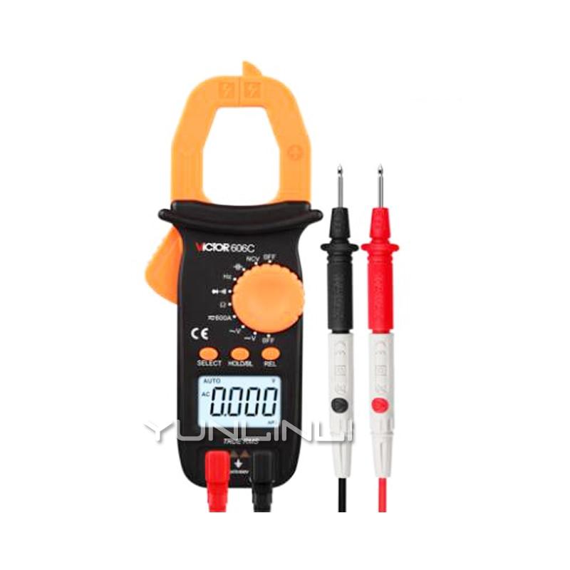 Pince mètre multimètre numérique haute précision Anti-brûlure automatique AC et DC tension pince Type courant universel Table VC606C