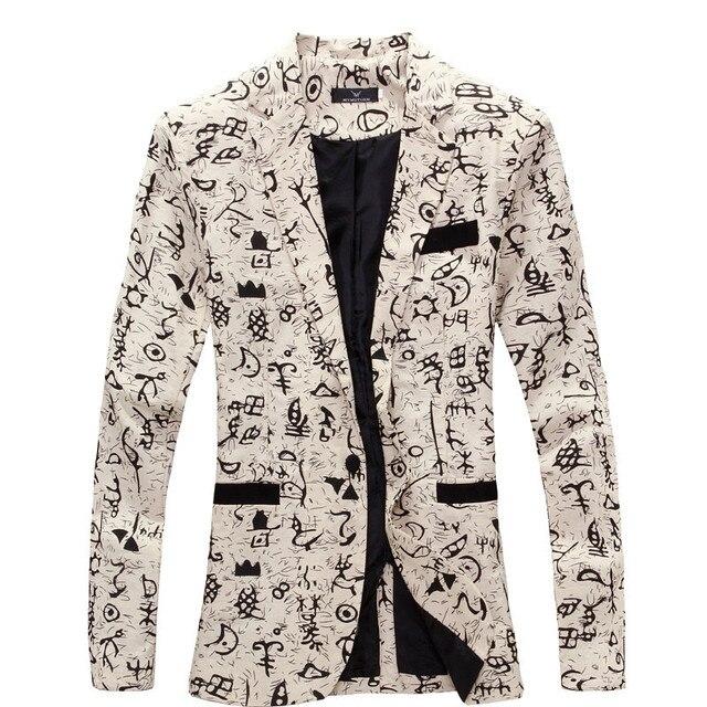 Men Floral Blazers 2017 New Designer Brand Fashion vintage Slim Custom Fit Linen Flower casual Business Dress Suit Blazer