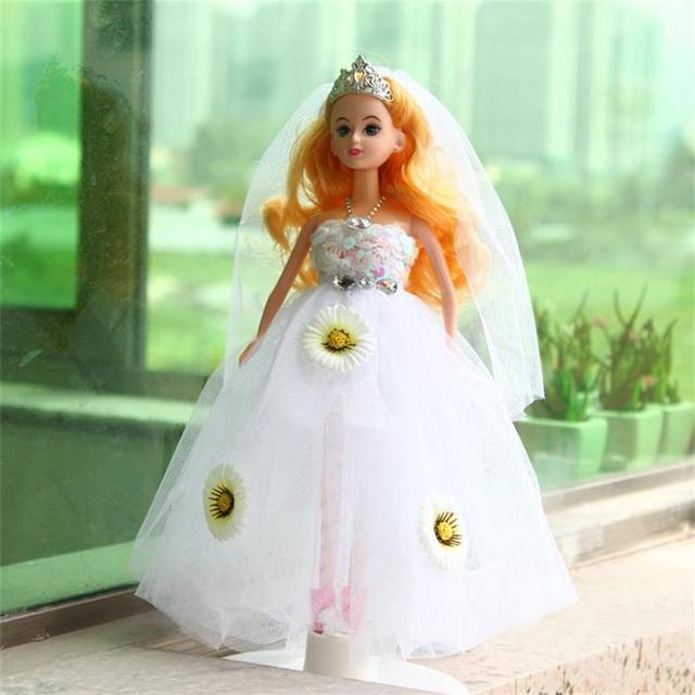 30CM Cute Beautiful Doll Toy Wedding dress fashion