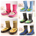 12pairs/lot Baby First Walkers Socks Newborn Toddler Lovely Animal Socks Prewalkers Shoes Boots Bebe Footwear Sock 17 Colors