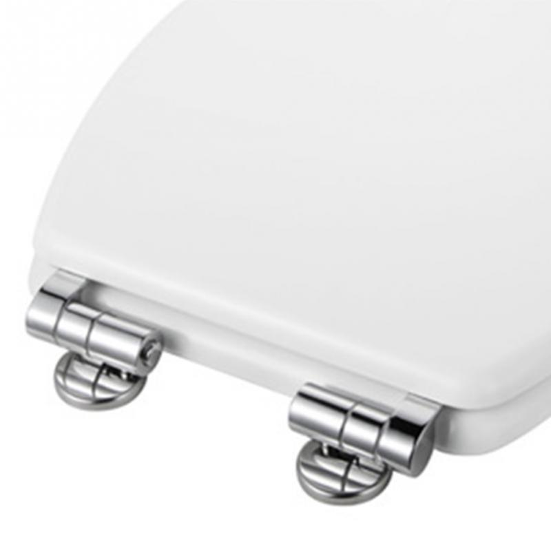 New Universal Adjustable Replacement Chrome Toilet Seat Hinge Set Pair With Fittings One Pair Chrome Effect Toilet Seat Hinges