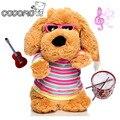 Nuevo diseño 3 Patrones Electrónicos Perros juguetes de peluche animal lindo Canto niños perro mascota juguetes modelo muñeca smart toys robots para niños