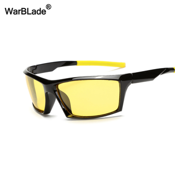 WarBLade New Fashion Night Vision Sun Glasses Men Yellow Lens Polarized Sunglasses Driving Anti-Glare Goggles For Driver Eyewear