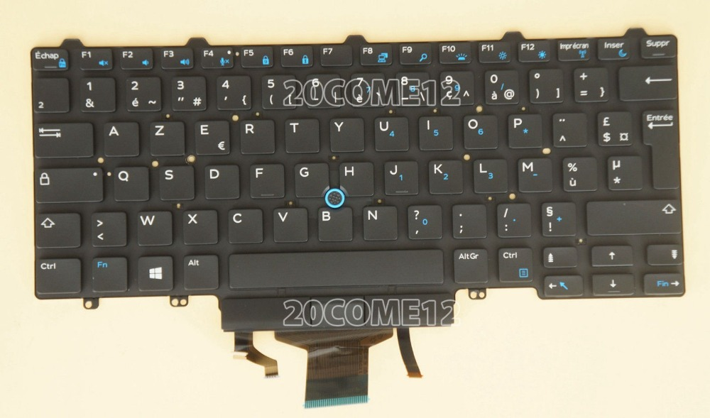 New notebook Laptop keyboard for DELL Latitude E5470 E7470  backlit French Layout brand new us keyboard for dell latitude e5450 e7450 laptop keyboard without frame laptop