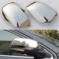 Car Styling Side Rearview Mirror Cover Trim Chromium ABS Sticker Exterior Anti Scratch Overlay For Jeep