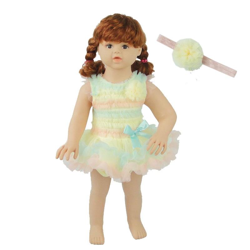 Rainbow Stripes Baby Girl Dress Summer Lace Kids Baptism Birthday Dress Princess Girls Clothing Infatn Dresses Vestido