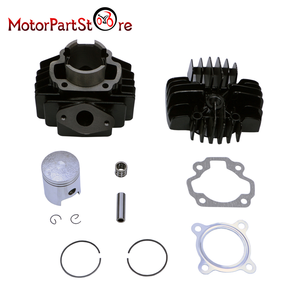 PW50 QT50 Cylinder Head Piston Gasket Kit 40mm for YAMAHA PW50 1981 2009 QT50 1979 1987-in Engines from Automobiles & Motorcycles    2