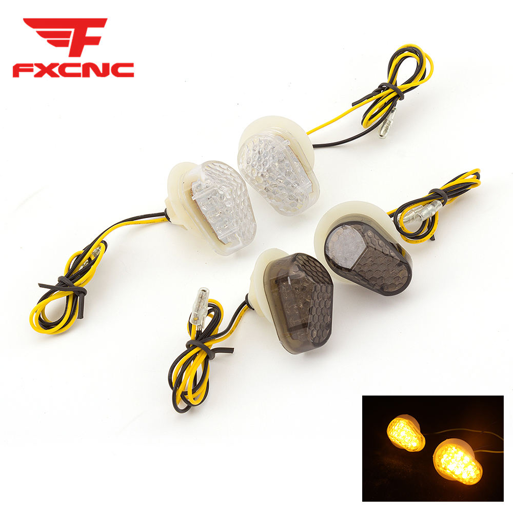 For <font><b>Yamaha</b></font> YZF <font><b>R1</b></font> R6 2003 - 2014 12V <font><b>LED</b></font> Motorccyle Turn Signal <font><b>Light</b></font> Indicator Blinker Set For YZF R6S 2006 2007 2008 2009 image