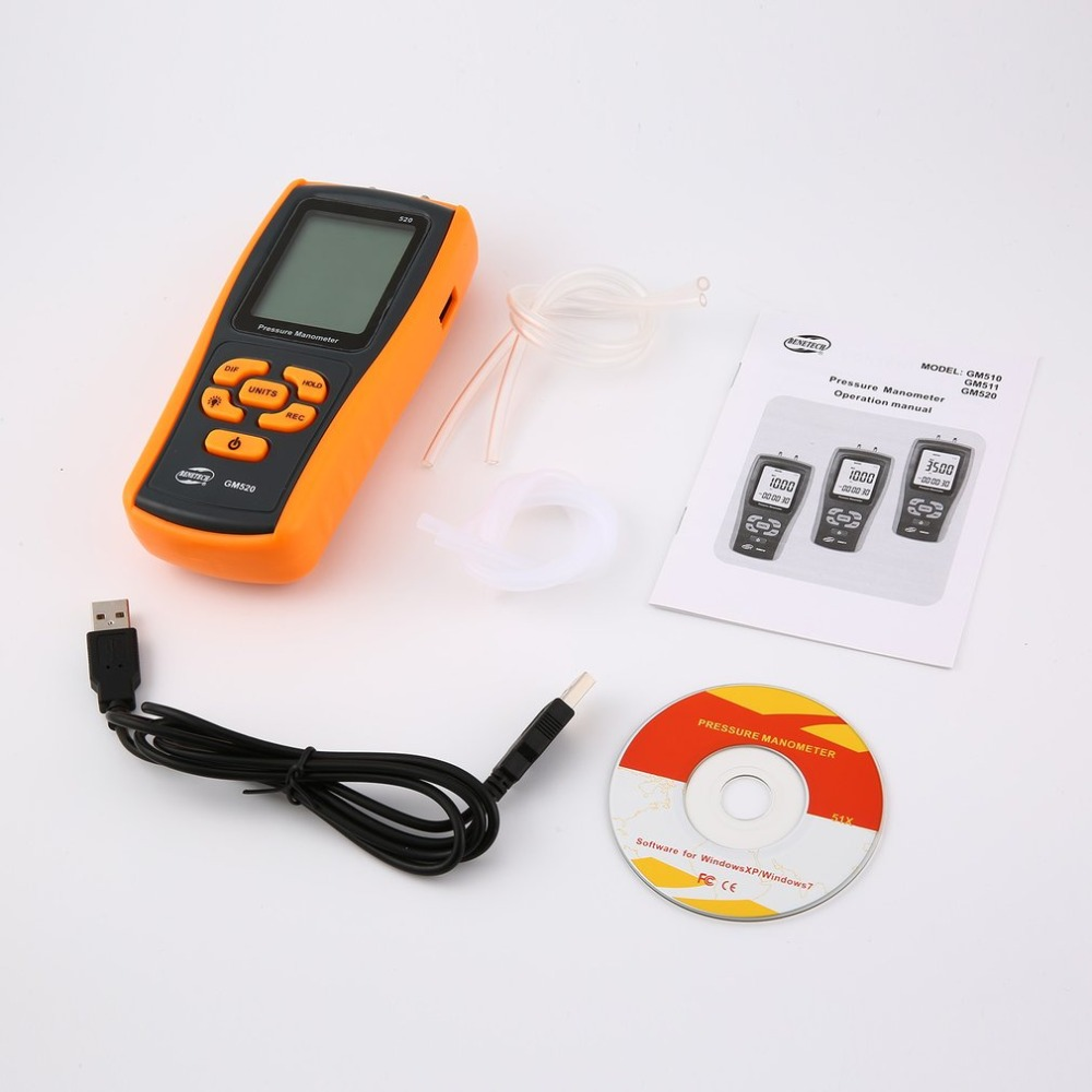 цена на High precision digital pressure gauge GM520 micro-pressure gauge differential pressure manometer air pressure gauge