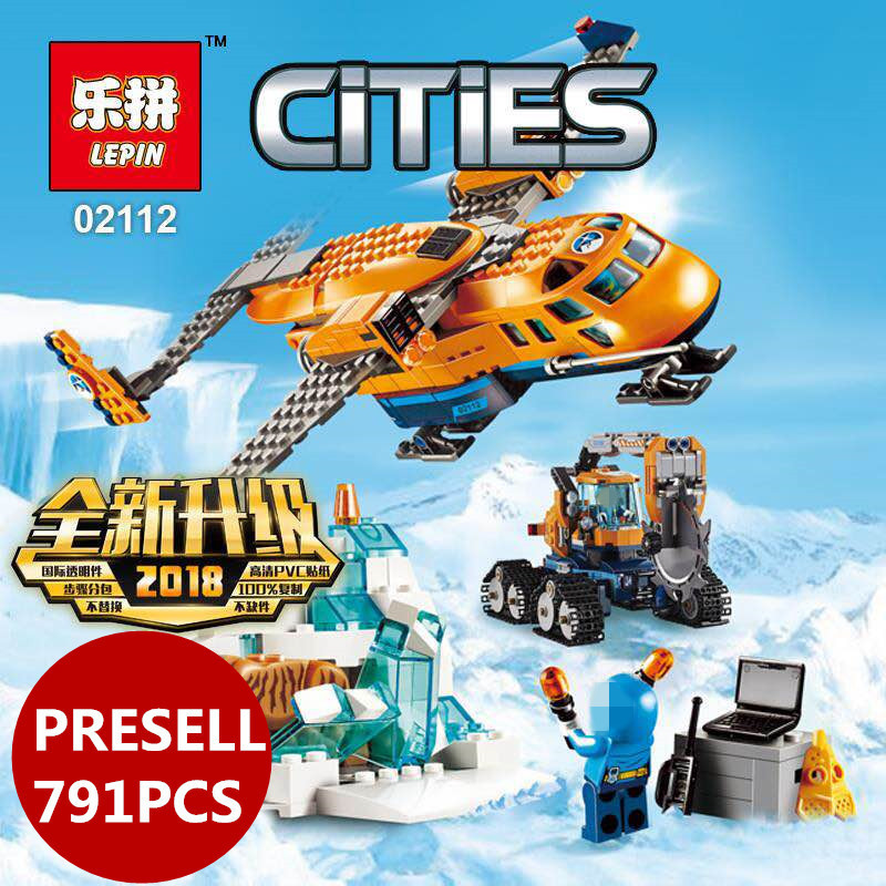 2018 new Lepin 02112 791pcs City Series Arctic Supply Plane Set Building Blocks Bricks Toys 60196 Christmas birthday Gifts
