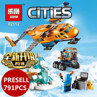 2018 new Lepin 02112 791pcs City Series Arctic Supply Plane Set Building Blocks Bricks Toys 60196 Christmas birthday Gifts