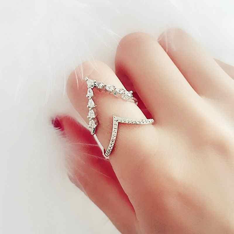 a3cf1a4599a8 Detalle Comentarios Preguntas sobre Capas dobles para las mujeres onda  diseño moda joyería Bijoux anillos ajustables elegantes Regalo de  Cumpleaños de Color ...