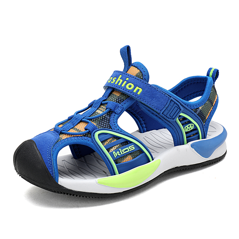 ULKNN Boys sandals 2019 new 6 primary school children 8 10 Baotou beach shoes 12 big kids soft bottom 15 years old summer