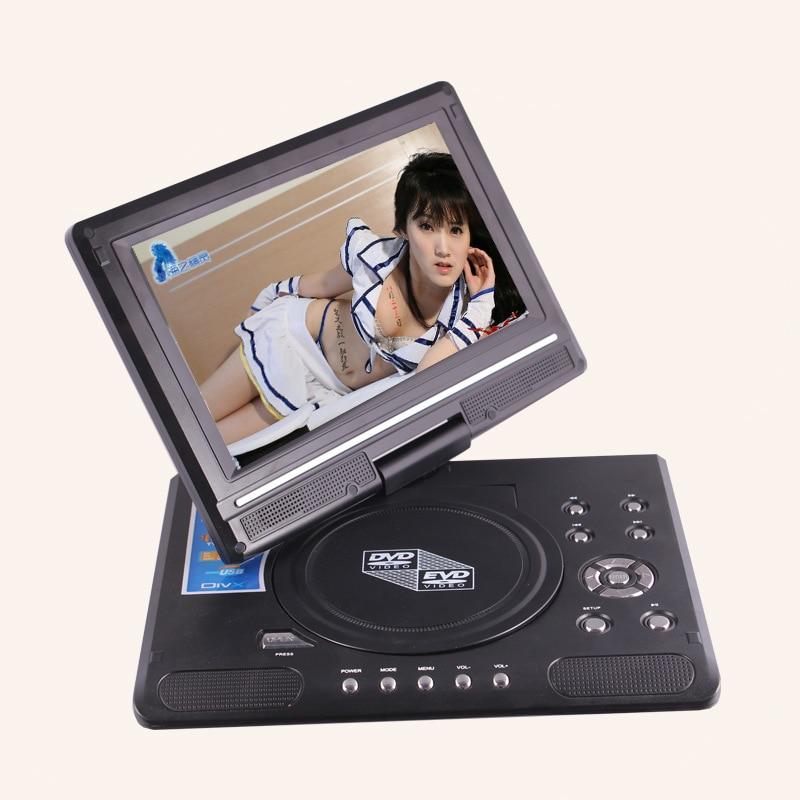 electronic 9 8 inch portable dvd evd player tv 270 swivel. Black Bedroom Furniture Sets. Home Design Ideas