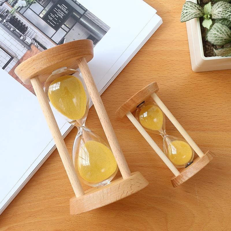 15/30 minutos reloj de arena de cristal madera Marcos arena reloj ...