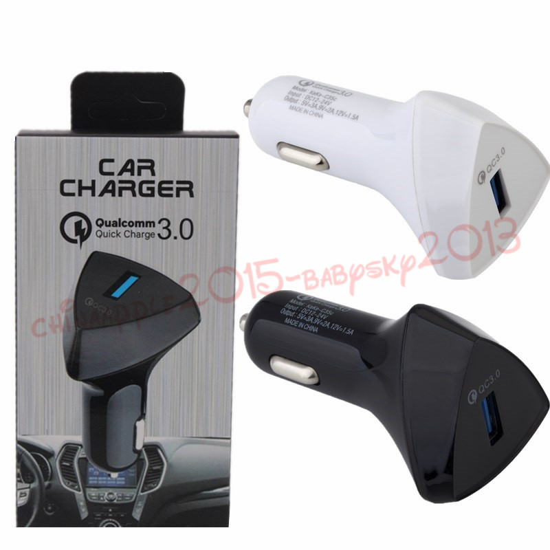 Car Charger 5V 3A QC 3 0 Fast adaptive charge car charger power adapter for iphone