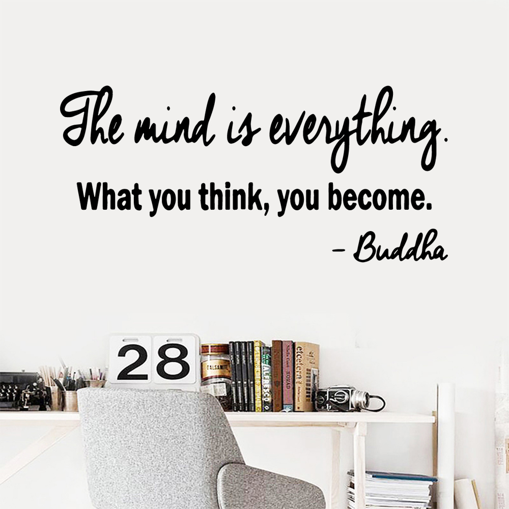Diy Mind Is Everything Pvc Wall Decals Home Decor For Baby's Rooms Diy Pvc Home Decoration Accessories image