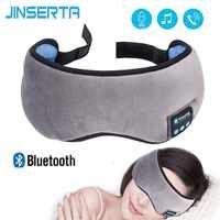 JINSERTA Wireless Stereo Bluetooth Earphone Sleep Mask 5.0 Bluetooth Sleep Soft Earphones Support Handsfree Sleeping Eye Mask
