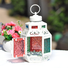 Household Decor Lantern Candlesticks European Wedding Decor Metal Lantern Iron Candle Holder