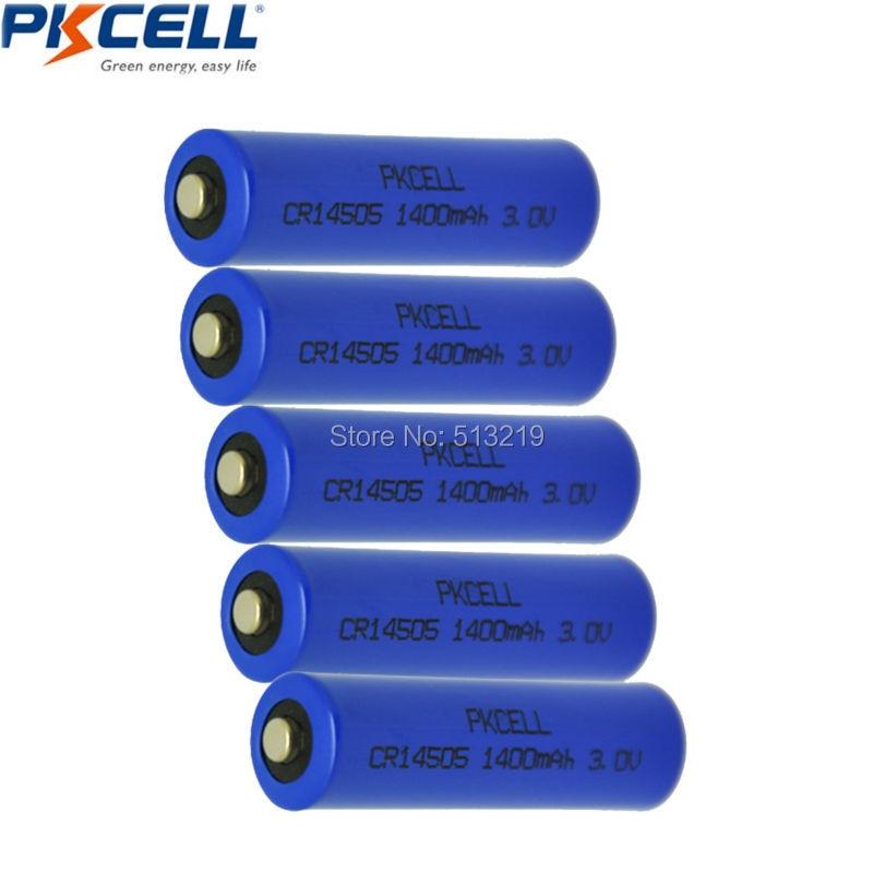 5Pcs AA <font><b>Batteries</b></font> CR14505 14505 CRAA <font><b>3V</b></font> 1400mAh Lithium Cylindrical <font><b>Li</b></font> MonO2 <font><b>Battery</b></font>