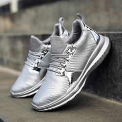 Women Silver Gold Sequin Shoes Light Sneakers Platform Ultraboost Non-slip Outdoor Sport Shoes Lace Up Running Shoes Cool Style