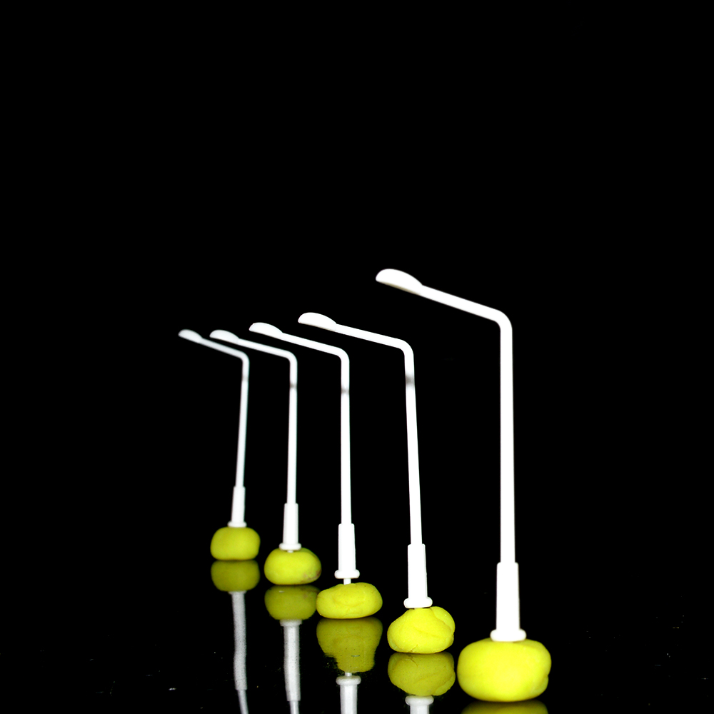 100 Pcs/Lot Layout Streets Lamp Model Scale 1:500 Plastic Single Head Light Lamppost Model Railway Street Light
