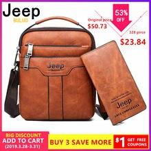 05bd0c42d JEEP BULUO Marca Men Messenger Bags 2pce conjunto Crossbody Bolsa de Ombro  Grande Capacidade de Couro Bolsa de Negócios Casuais .
