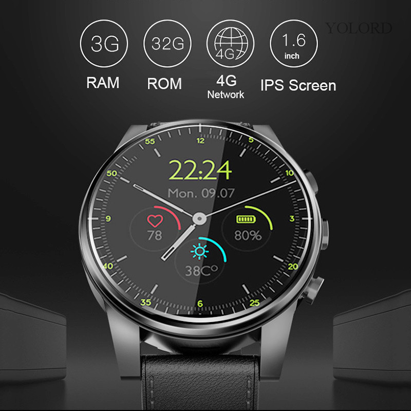 X360 Smart Watch Android 7.1 3gb 32gb With IP67 waterproof GPS 2MP Camera 1.6 Inch AMOLED Screen 4G Smartwatch Men PK lemX Z28|Smart Watches| |  - title=