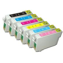 T0791 Ink Cartridge For Epson Stylus Photo 1400 1410 PX660 P50 PX650 PX700W PX710W PX720WD PX730WD PX810FW - T0796
