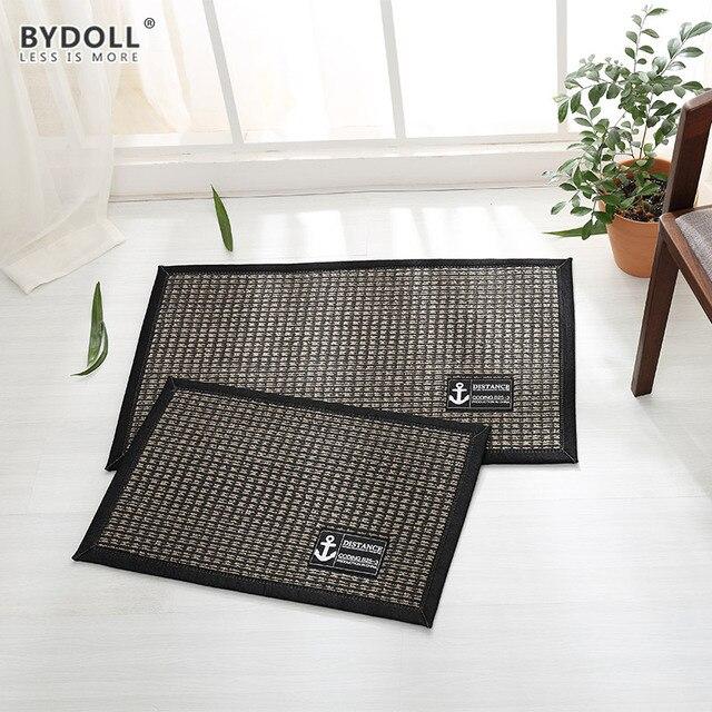 Bydoll rutschfeste sisal tür matte saugfähigen streifen carpet ...