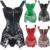 Mujeres libres del Envío Steampunk Corsé Gótico Bustier de Cuero de Imitación Corsé Cintura Trainer S-6XL Más El Tamaño de Overbust Burlesque TYQ
