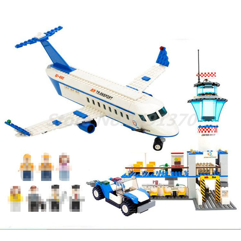 Gudi 8912 652pcs City Air Plane International Airport Aviation Figure Building Block Brick Educational Toys For Children Gifts paulmann 97 652