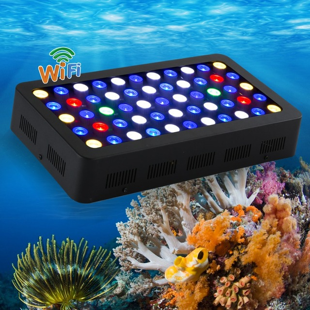 165w wifi led aquarium light warehouse in China WIFI controller can handle with IOS/Android system best for tank coral