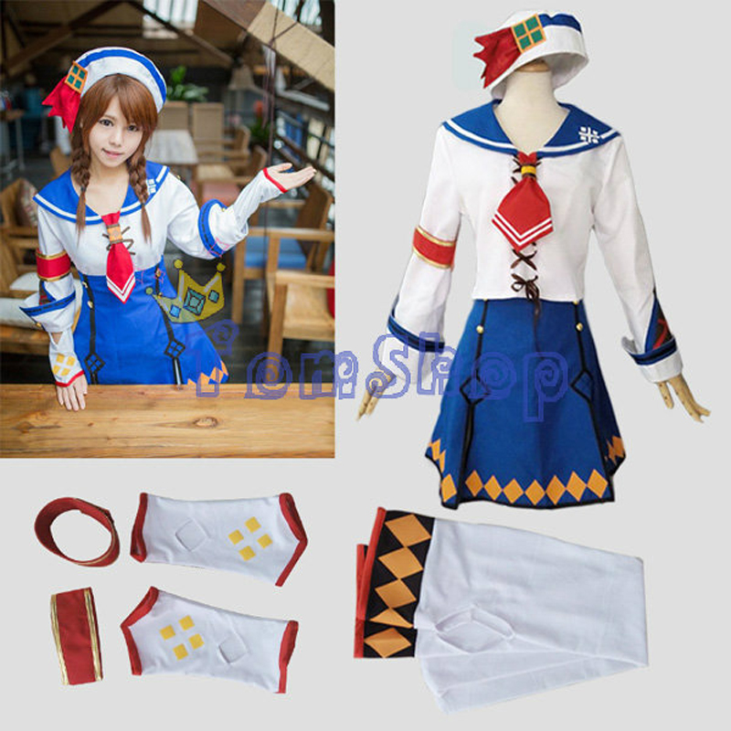 Monster Hunter 3G Casey Kanban Musume Cosplay Dress Uniform Full Set Women's Halloween Costume Custom-made Free Shipping(China)