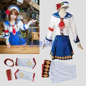 Monster Hunter 3G Casey Kanban Musume Cosplay Dress Uniform Full Set Women's Halloween Costume Custom-made Free Shipping(China)