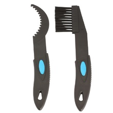 2 Pcs Bicycle Brush Chain Cleaning Bicycle Tool Black Bike Cycling Cleaner Brushes Scrubber Bicycle Repair Tools Accessories