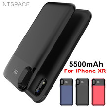 NTSPACE Power Bank Pack Charging Cover for iPhone XR 5500mAh External Battery Charger Case Wireless Magnetic Phone